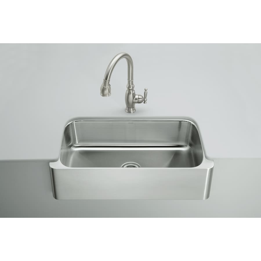 stainless steel kitchen sinks undermount 18 gauge shop kohler verity 18 single basin undermount 9782