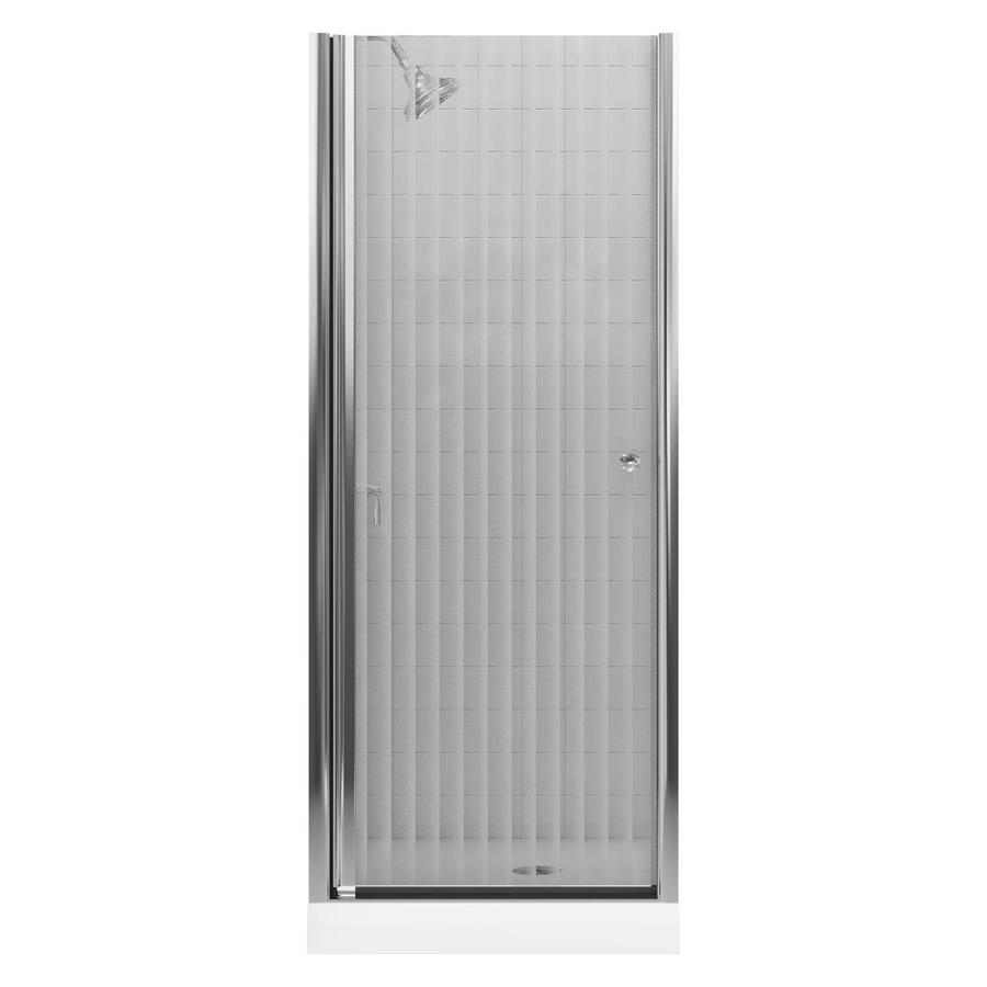 KOHLER Fluence 28.75-in to 30.25-in W Frameless Bright Silver Pivot Shower Door