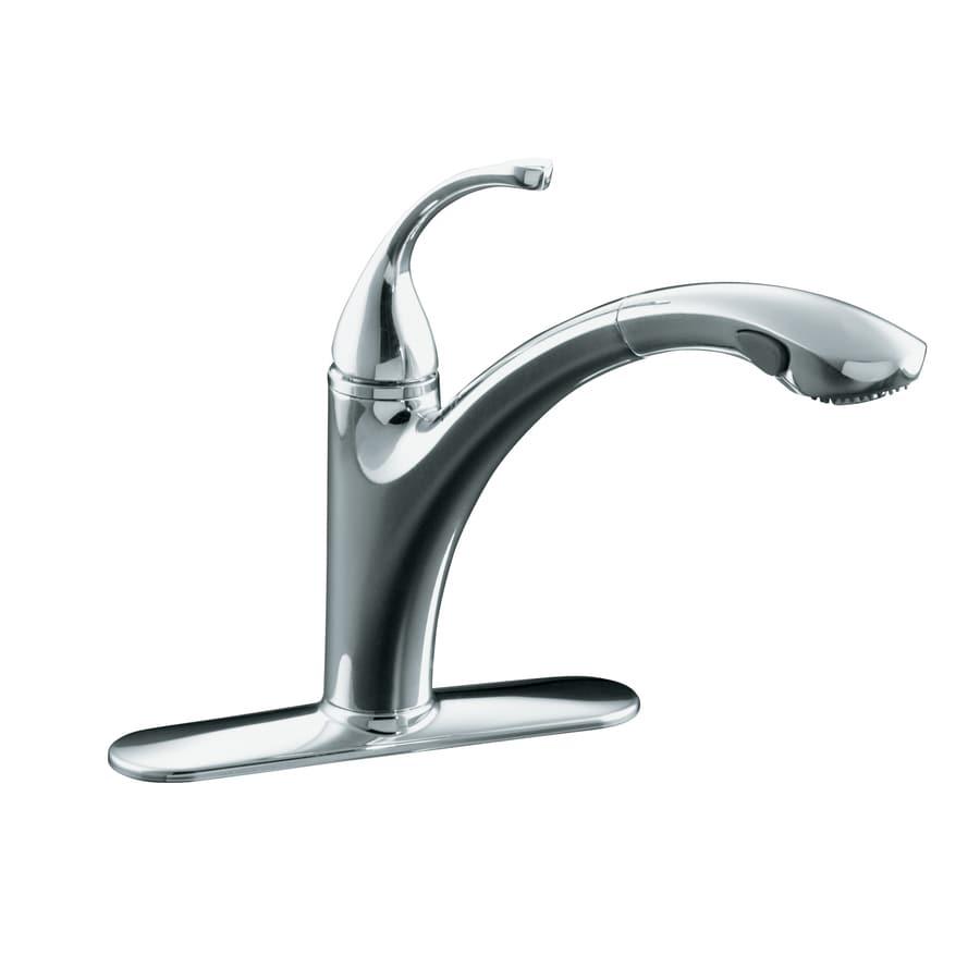 Kohler Forte Kitchen Faucet Shop Kohler Forte Polished Chrome 1 Handle Pull Out Kitchen Faucet