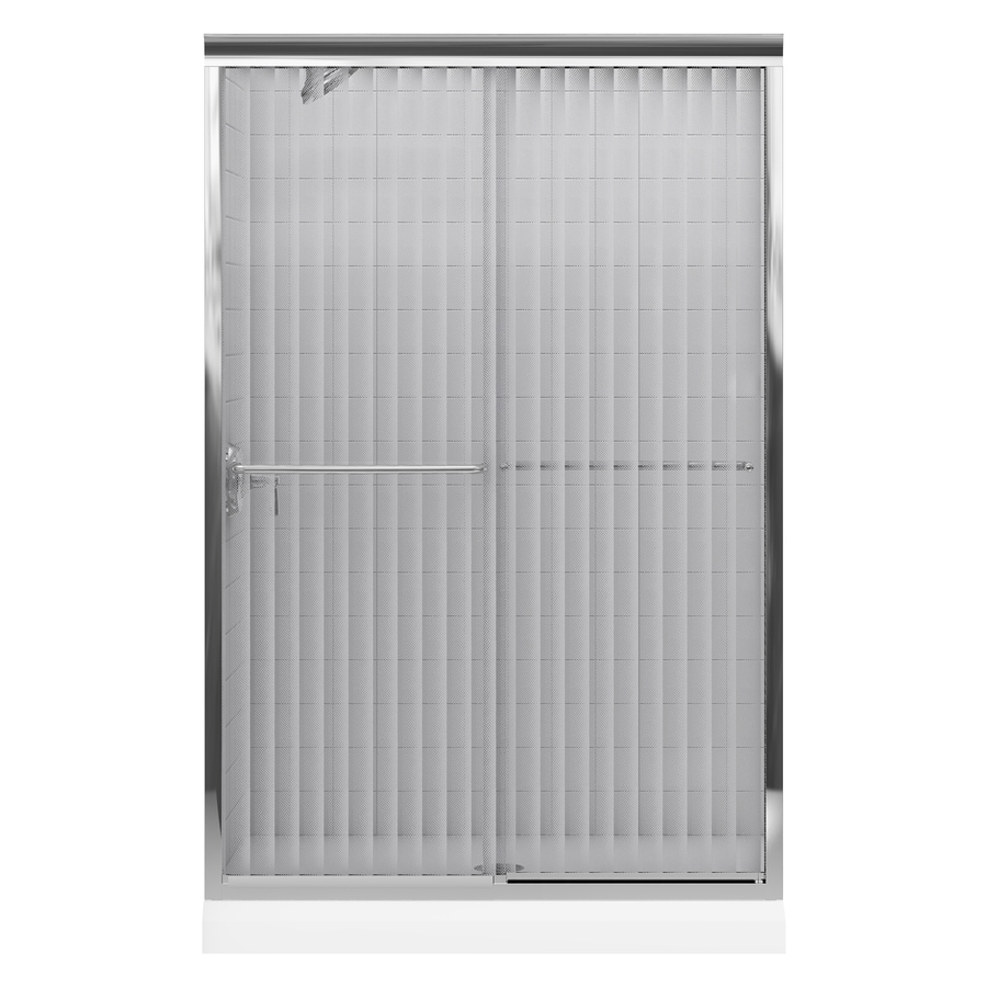 KOHLER Fluence 44-in to 47-in W x 70-in H Bright Polished Silver Sliding Shower Door