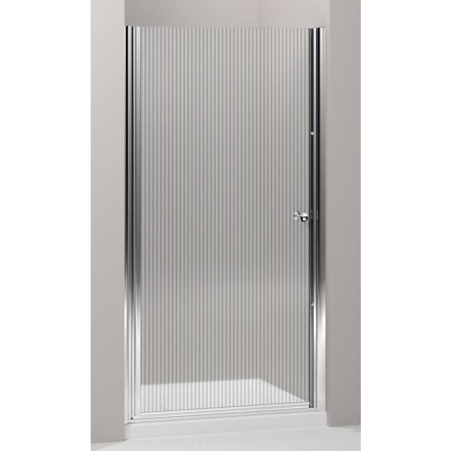 Kohler Fluence 35 In To 36 5 W Bright Silver Pivot Shower Door