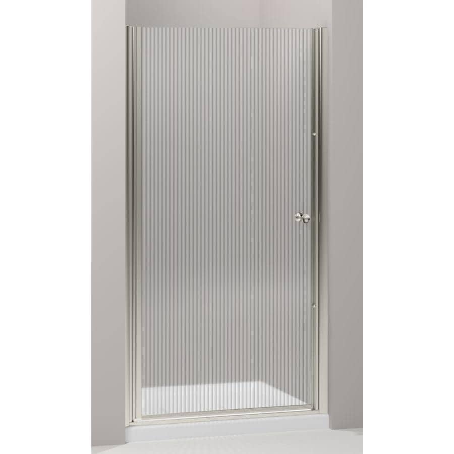 KOHLER Fluence 36.25-in to 37.75-in W Frameless Matte Nickel Pivot Shower Door