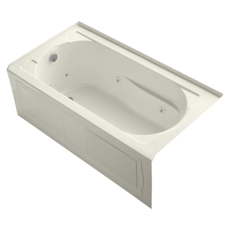 KOHLER Devonshire Biscuit Acrylic Oval In Rectangle Whirlpool Tub (Common: 32-in x 60-in; Actual: 20.0000-in x 32.0000-in x 60.0000-in)