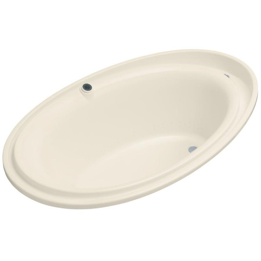 KOHLER Purist 72-in L x 46-in W x 25.687-in H Acrylic Oval Drop-in Air Bath