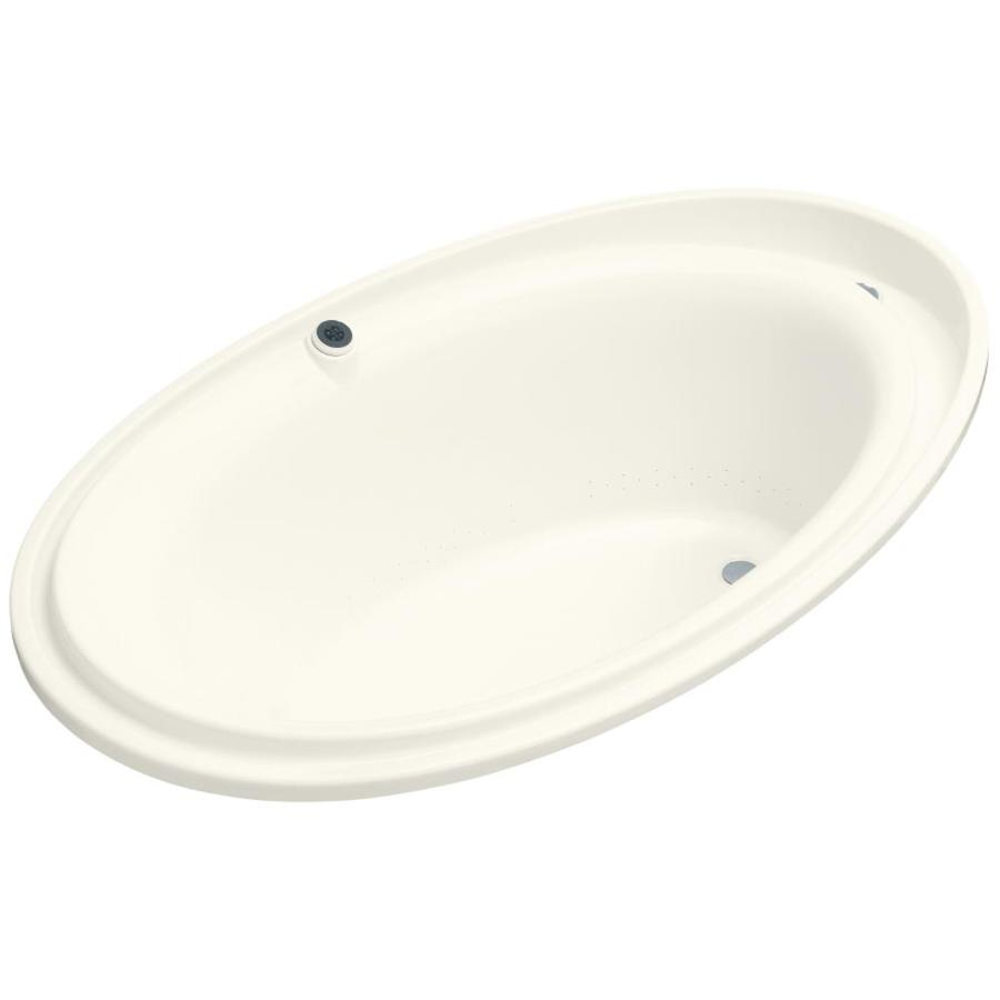 KOHLER Purist 72-in L x 46-in W x 25.687-in H Acrylic Oval Drop-in Air Bath