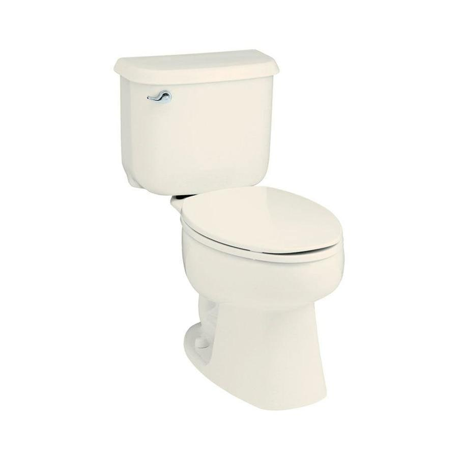 Sterling Windham Biscuit  Round Standard Height 2-piece Toilet 12-in Rough-In Size