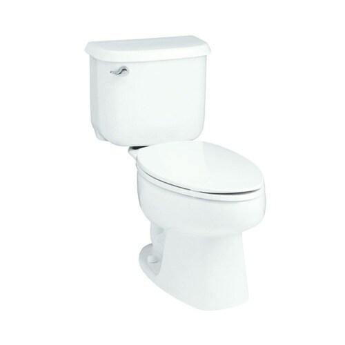 White KOHLER STERLING 402210-0 Windham 10-Inch Rough-in Elongated Toilet