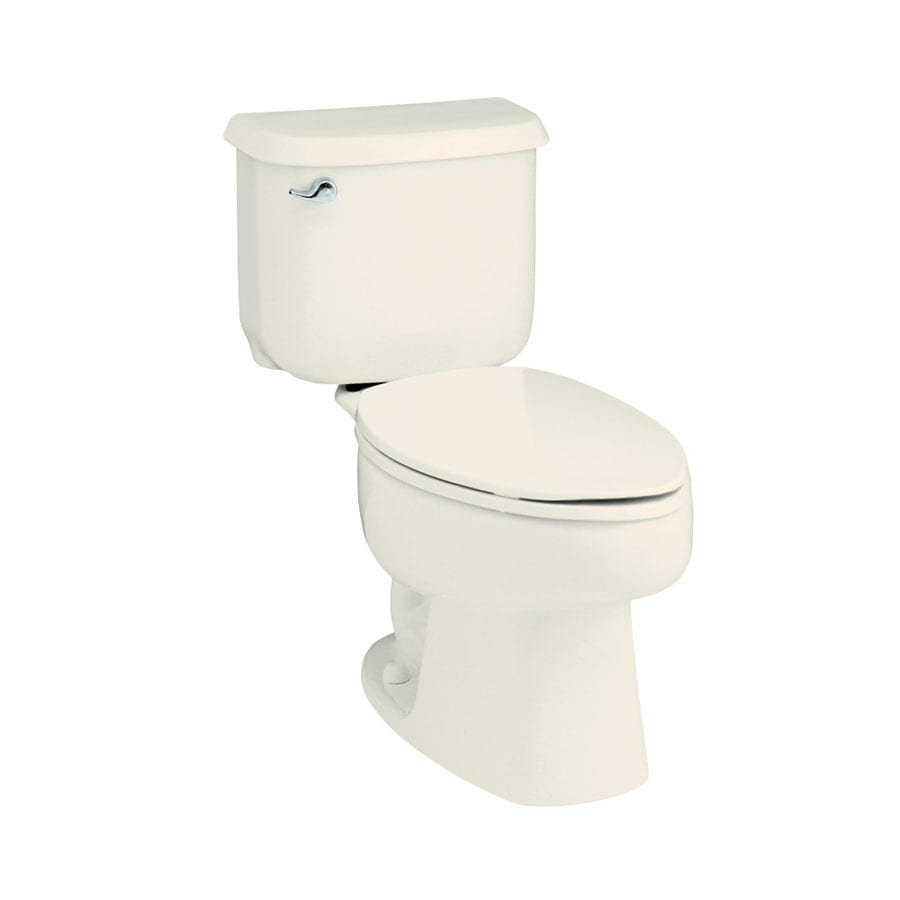 Sterling Windham Biscuit  Elongated Standard Height 2-piece Toilet 10-in Rough-In Size