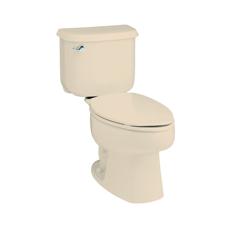 Sterling Windham Almond 1.6-GPF (6.06-LPF) 12-in Rough-In Elongated 2-Piece Standard Height Toilet