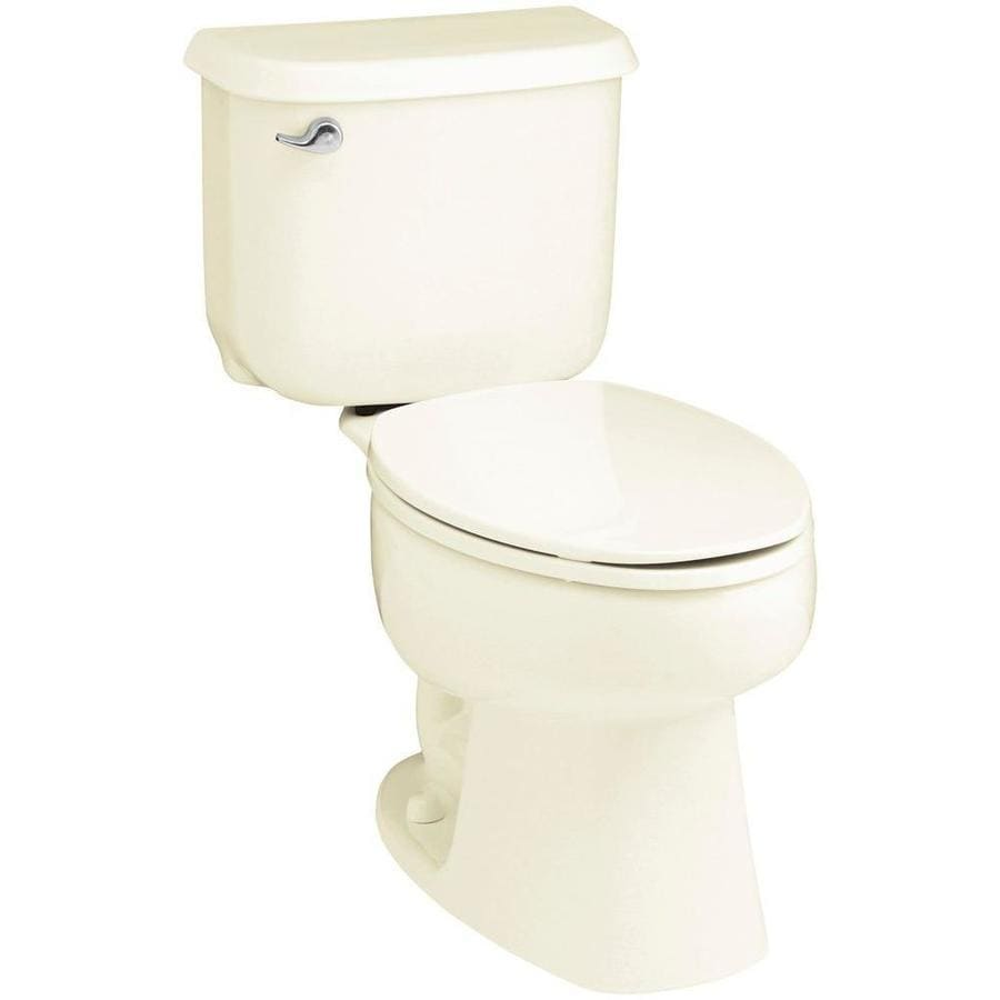 Sterling Windham 1.6-GPF (6.06-LPF) Biscuit Elongated 2-piece Toilet