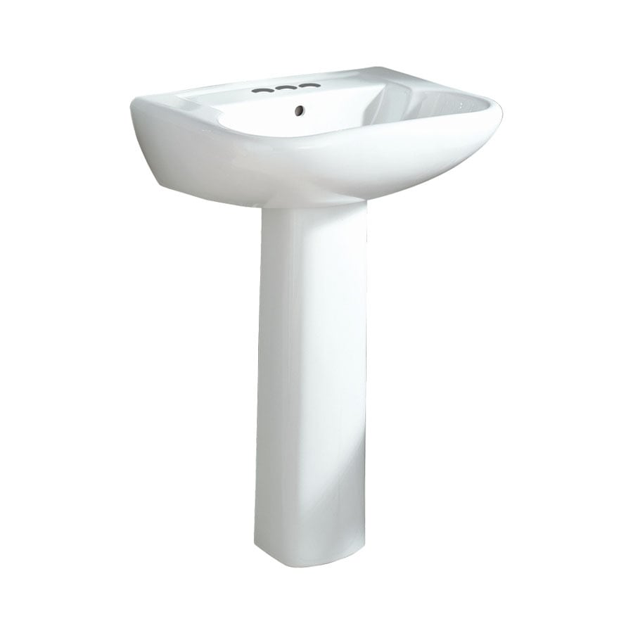 Sterling Southampton 33-in H White Vitreous China Pedestal Sink