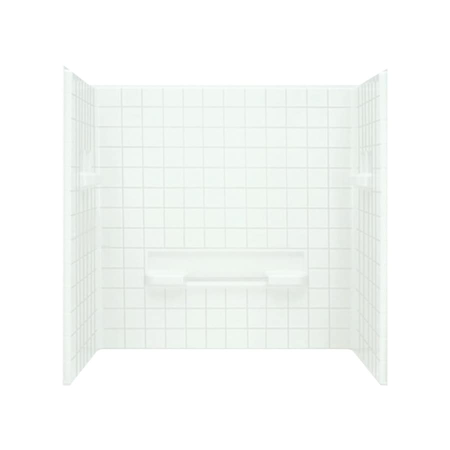 Sterling Advantage White Shower Wall Surround Side And Back Wall Kit (Common: 60-in x 35-in; Actual: 59.25-in x 60-in x 35.25-in)