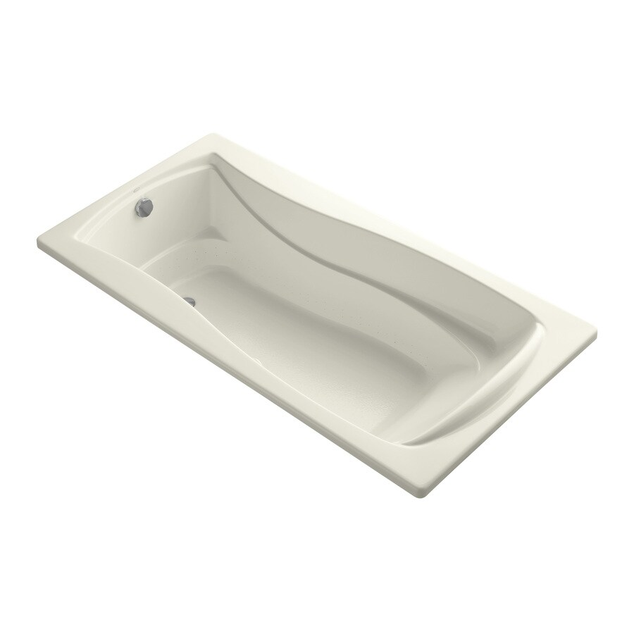 KOHLER Mariposa 72-in Biscuit Acrylic Drop-In Air Bath with Reversible Drain