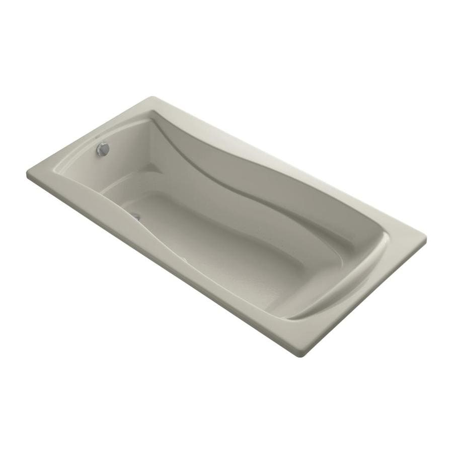 KOHLER Mariposa 72-in L x 36-in W x 20-in H Acrylic Hourglass In Rectangle Drop-in Air Bath