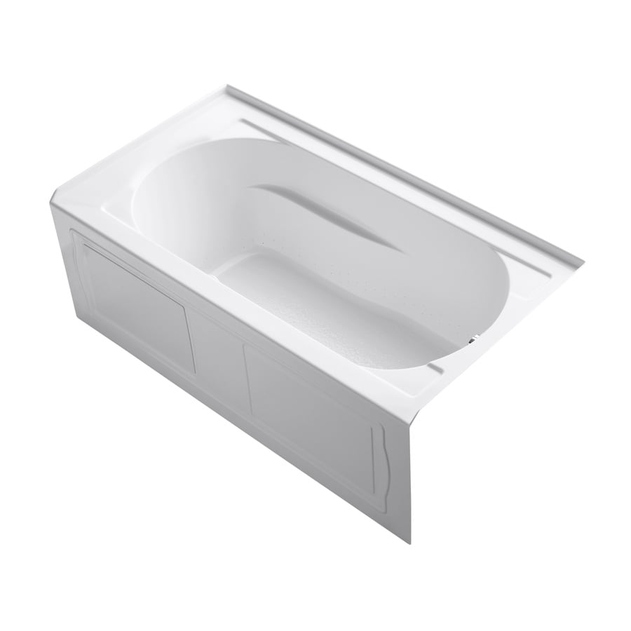 KOHLER Devonshire 60-in White Acrylic Alcove Air Bath with Right-Hand Drain