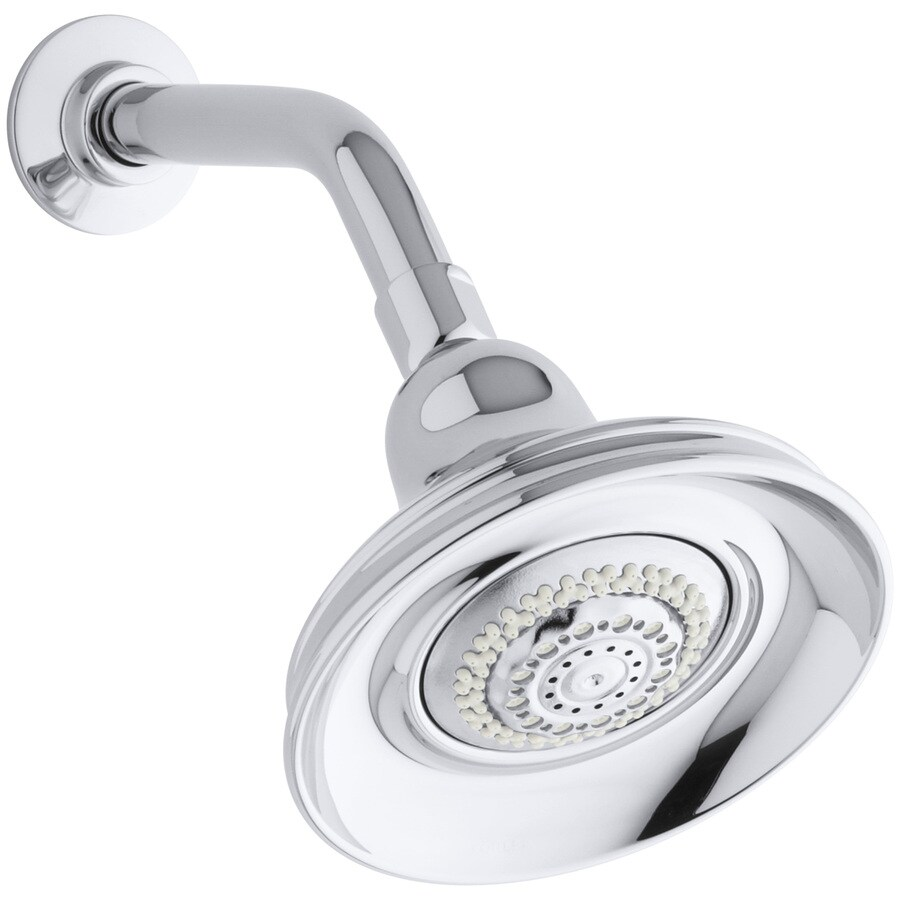KOHLER Bancroft 5.9375-in 2.5-GPM (9.5-LPM) Polished Chrome 4-Spray Rain Showerhead