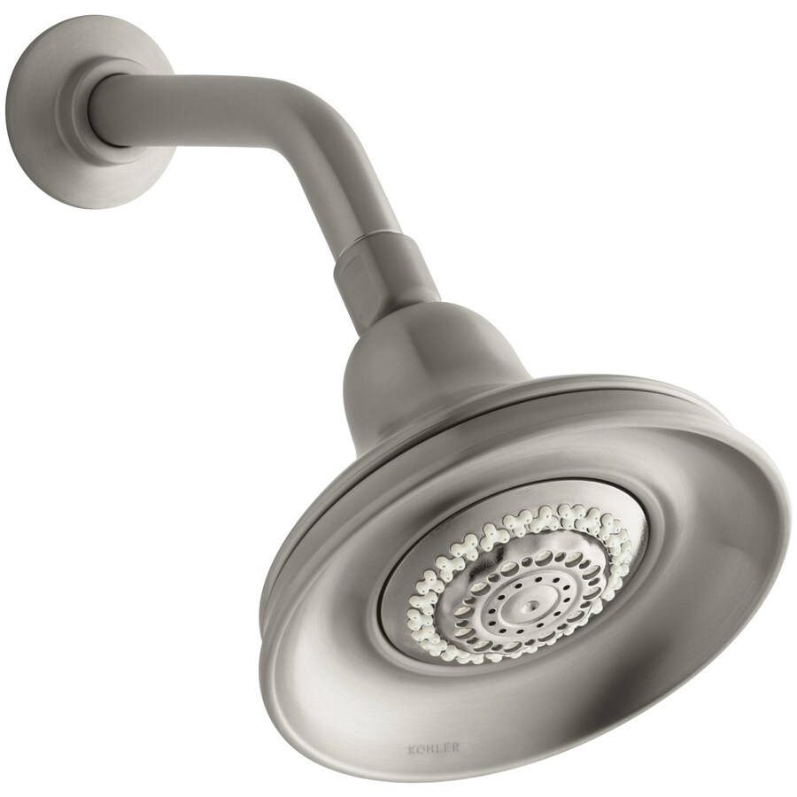 KOHLER Bancroft 5.9375-in 2.5-GPM (9.5-LPM) Vibrant Brushed Nickel 4-Spray Rain Showerhead