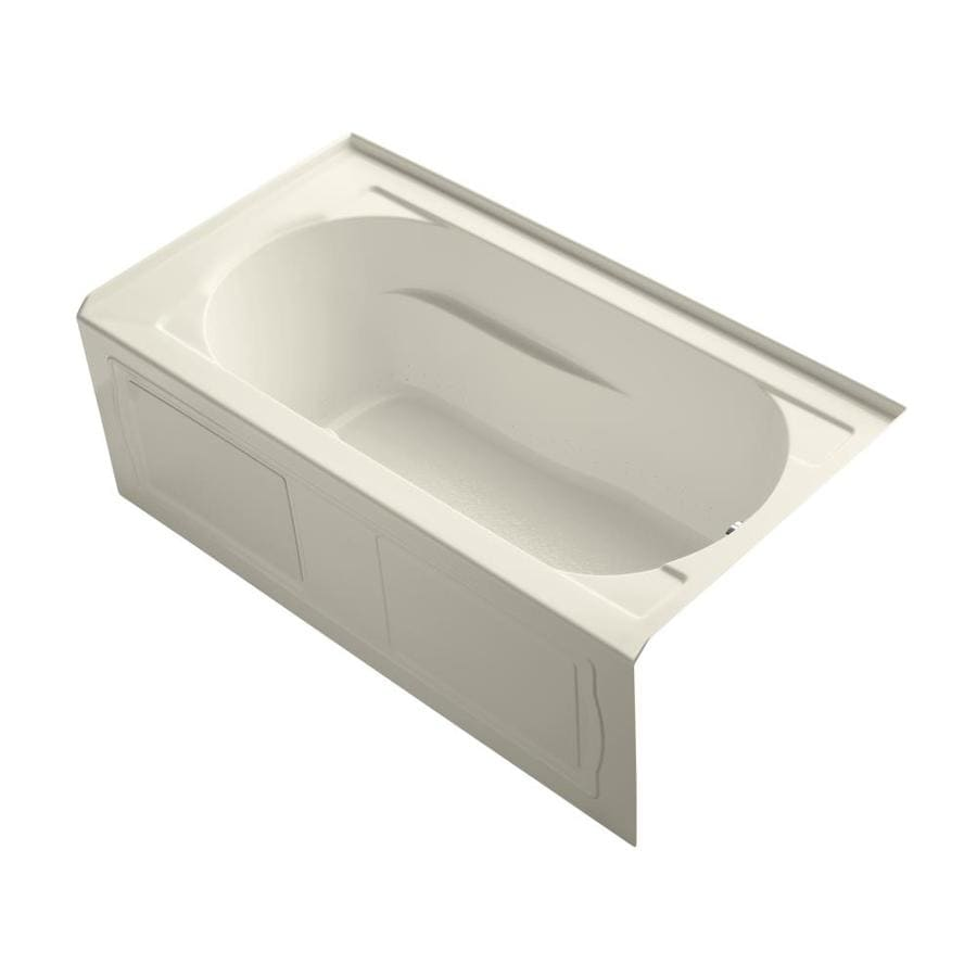 KOHLER Devonshire 60-in L x 32-in W x 20-in H Almond Acrylic Oval In Rectangle Alcove Air Bath