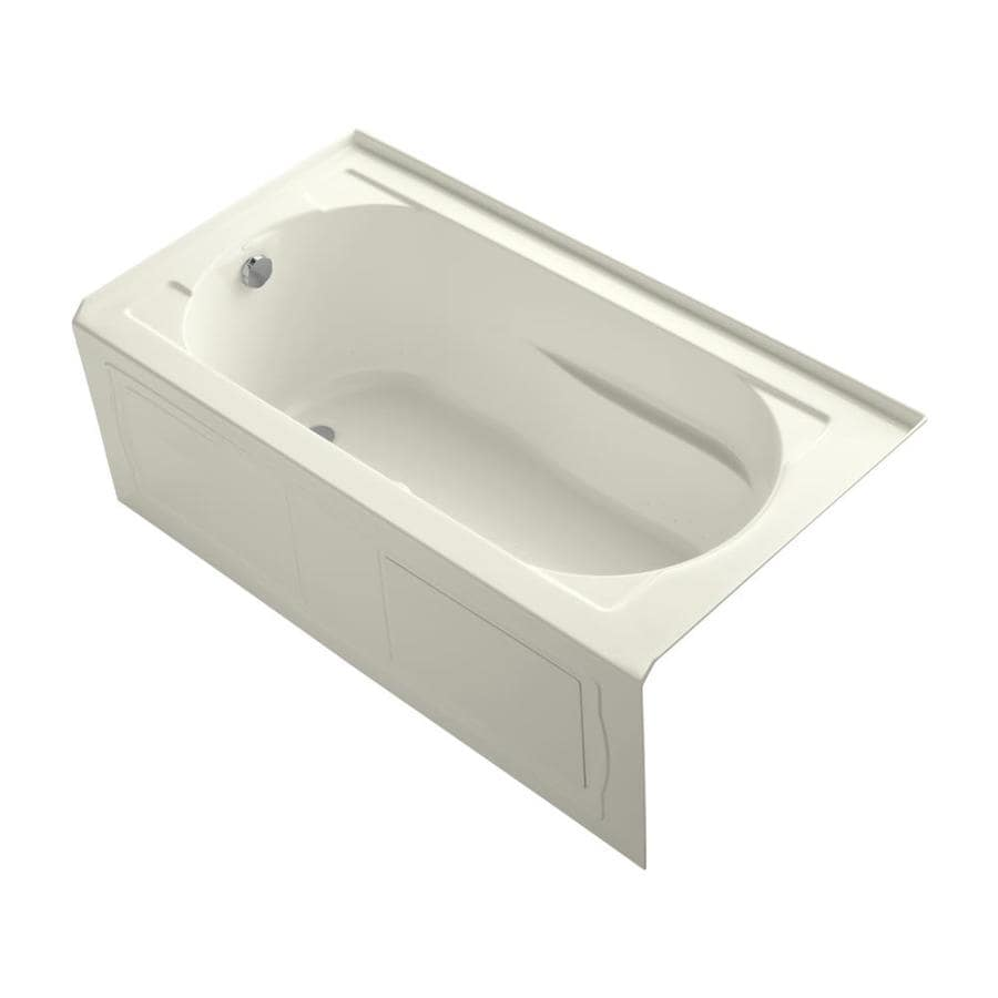 KOHLER Devonshire 60-in L x 32-in W x 20-in H Biscuit Acrylic Oval In Rectangle Alcove Air Bath