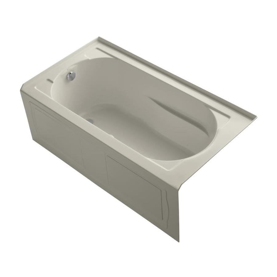 KOHLER Devonshire 60-in L x 32-in W x 20-in H Sandbar Acrylic Oval In Rectangle Alcove Air Bath