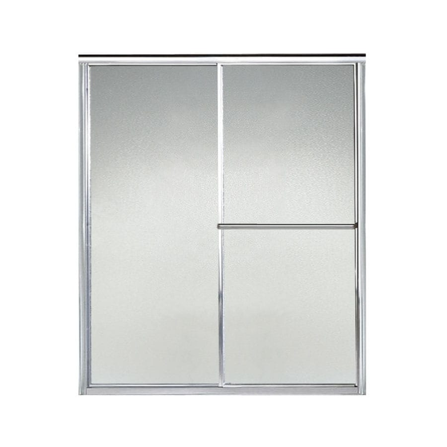 Sterling Deluxe 51-in to 56-in W x 70-in H Silver Sliding Shower Door