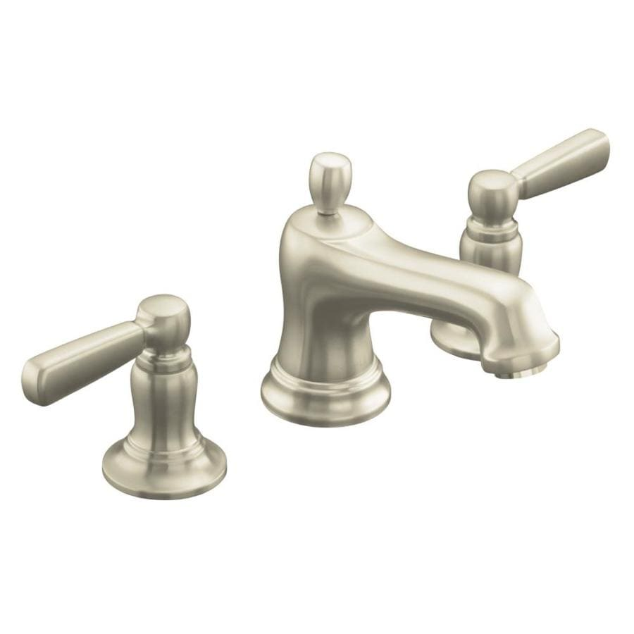 Shop KOHLER Bancroft Vibrant Brushed Nickel 2-Handle Widespread ...