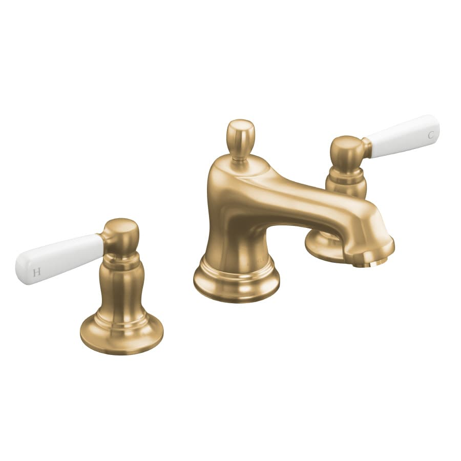 Shop KOHLER Bancroft Vibrant Brushed Bronze 2 Handle Widespread WaterSense Ba