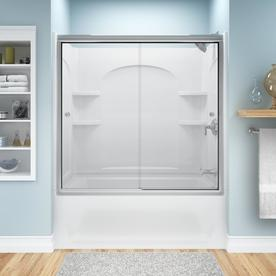 Sterling Ensemble Curve White One Piece Shower Wall