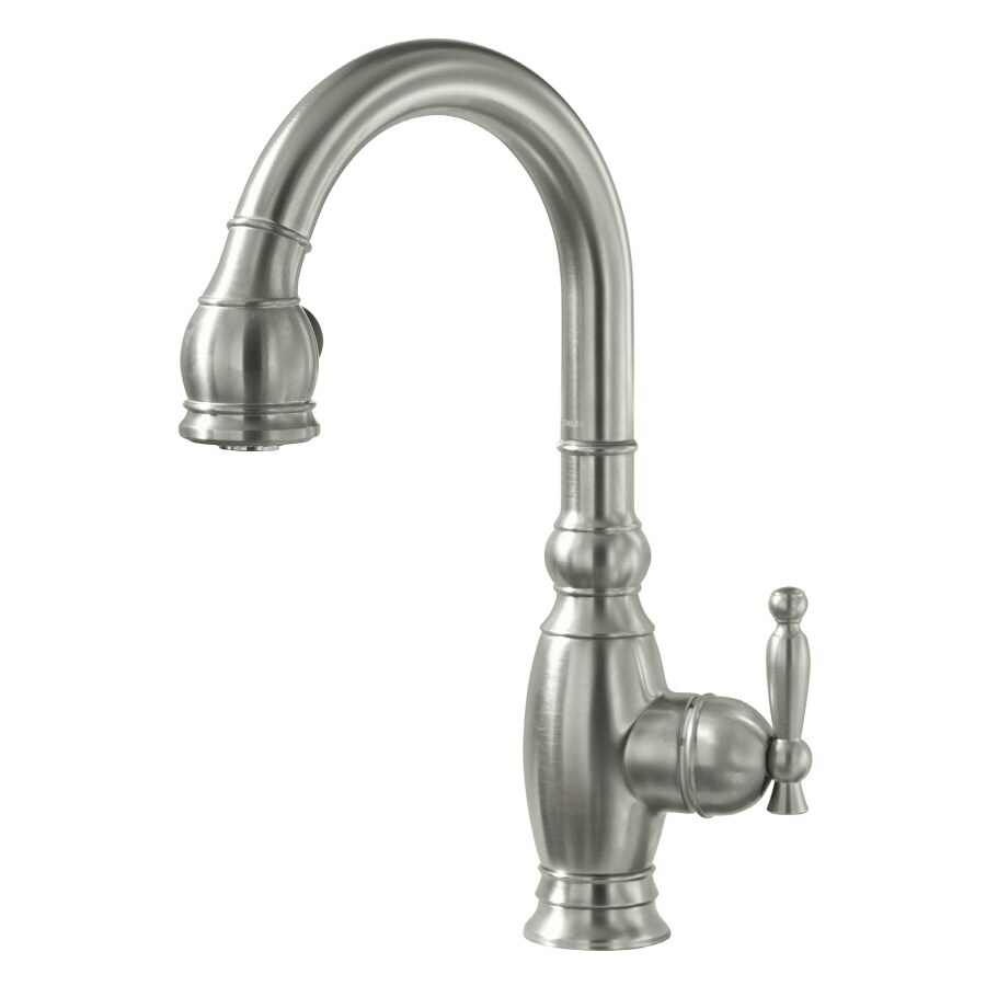 KOHLER Vinnata Vibrant Stainless 1-Handle Bar and Prep Faucet