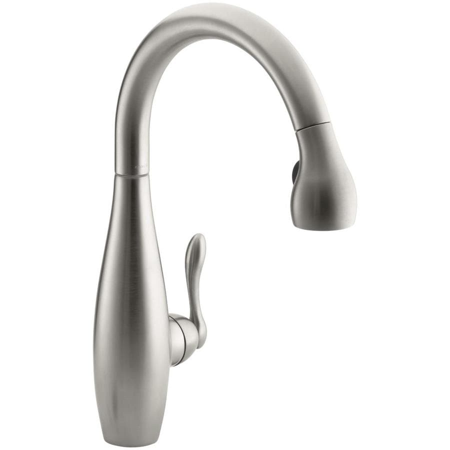KOHLER Clairette Vibrant Stainless 1-Handle Pull-Down Kitchen Faucet
