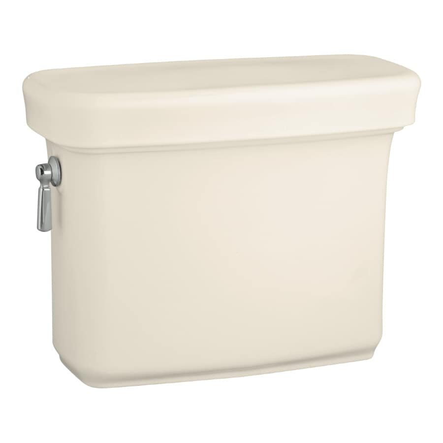 KOHLER Bancroft Almond 1.6-GPF (6.06-LPF) 12-in Rough-In Single-Flush Toilet Tank
