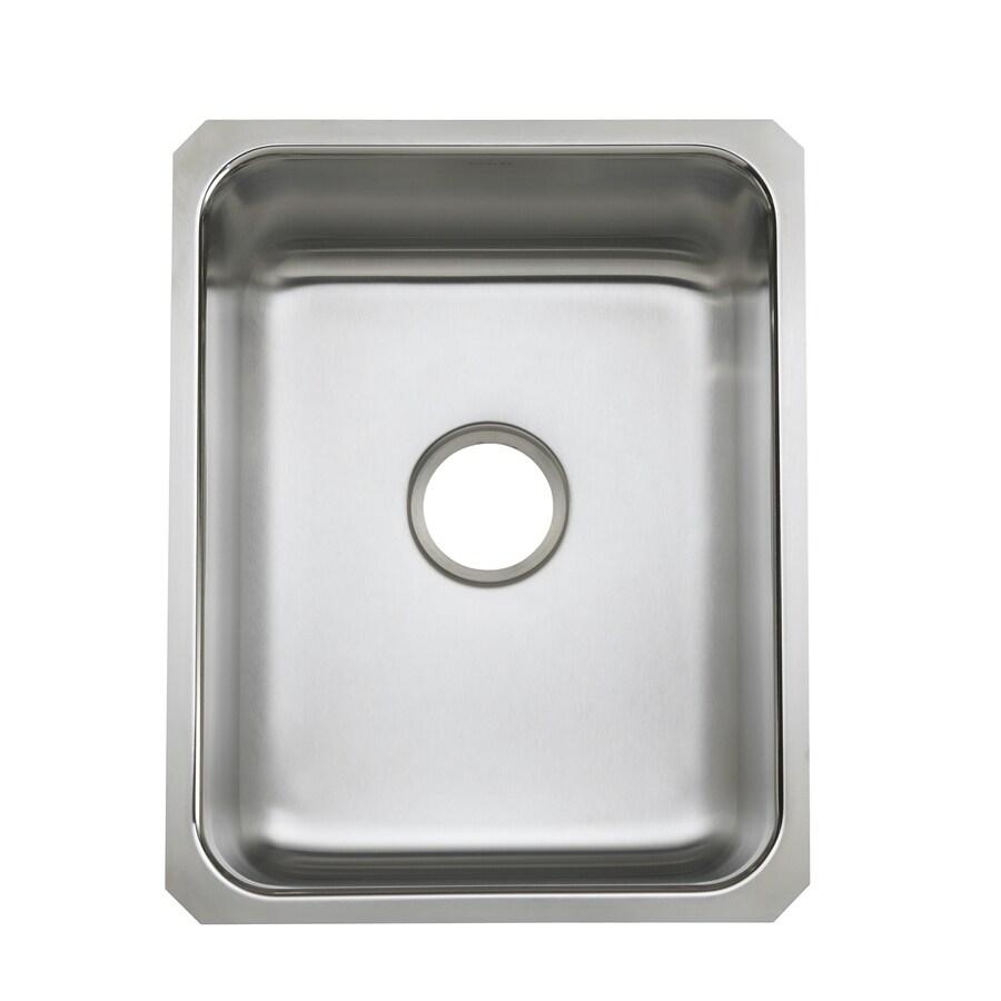 Kohler Undertone Sink : Shop KOHLER Undertone 20.37-in x 15.75-in Stainless Steel Single-Basin ...
