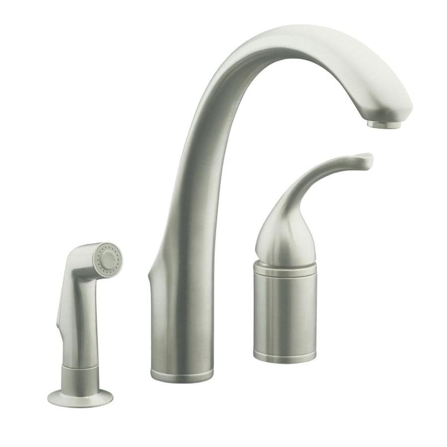 KOHLER Forte Vibrant Stainless 1-Handle High-Arc Kitchen Faucet