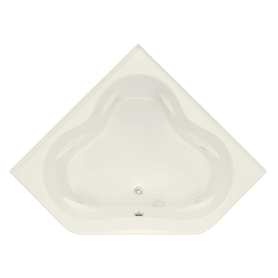 KOHLER Tercet 60-in Biscuit Acrylic Drop-In Whirlpool Tub with Front Center Drain