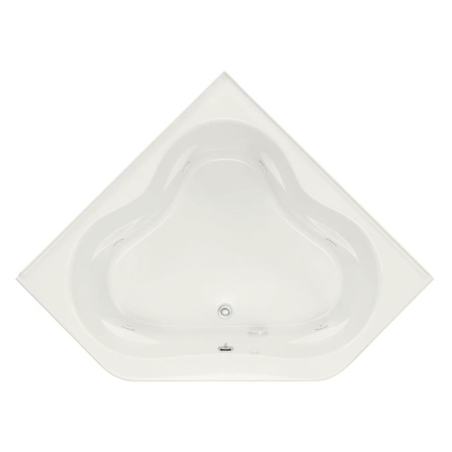 KOHLER Tercet White Acrylic Corner Whirlpool Tub (Common: 60-in x 60-in; Actual: 21-in x 60-in x 60-in)