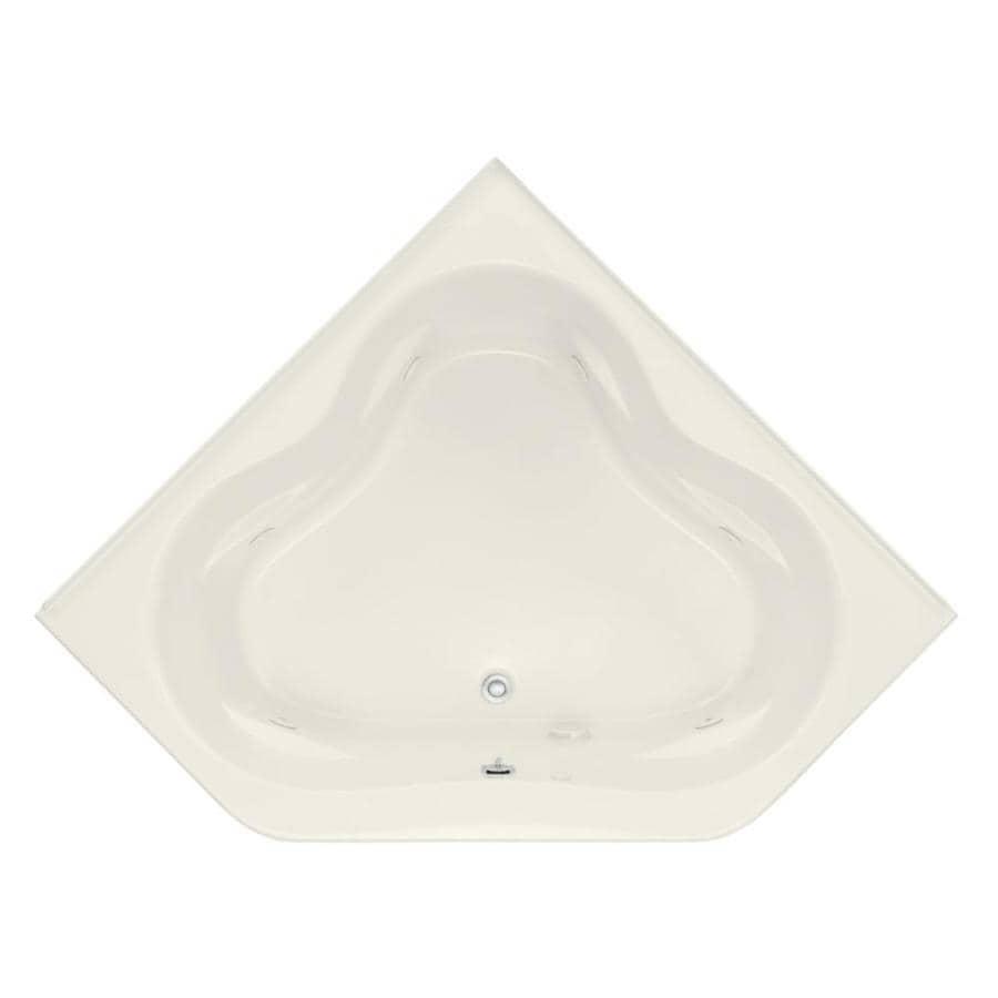 KOHLER Tercet Biscuit Acrylic Corner Whirlpool Tub (Common: 60-in x 60-in; Actual: 21-in x 60-in x 60-in)
