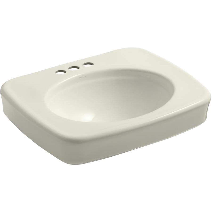 KOHLER Bancroft Biscuit Drop-in Rectangular Bathroom Sink with Overflow