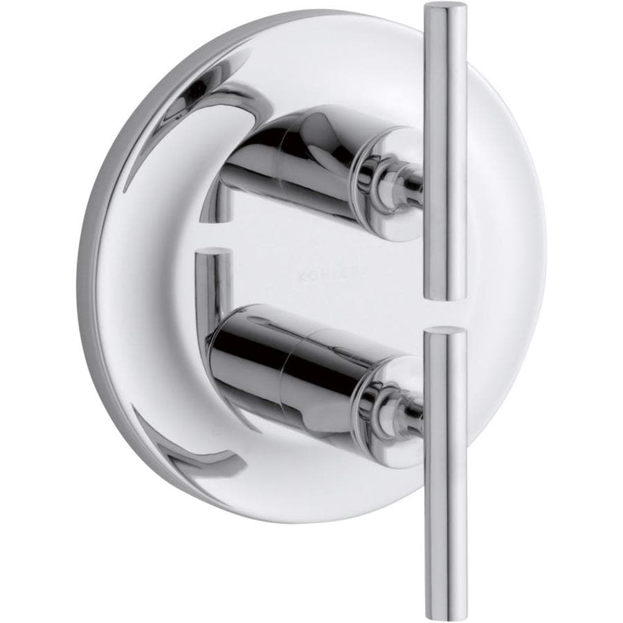 KOHLER Purist Polished Chrome 2-Handle Bathtub and Shower Faucet Trim Kit with Single Function Showerhead