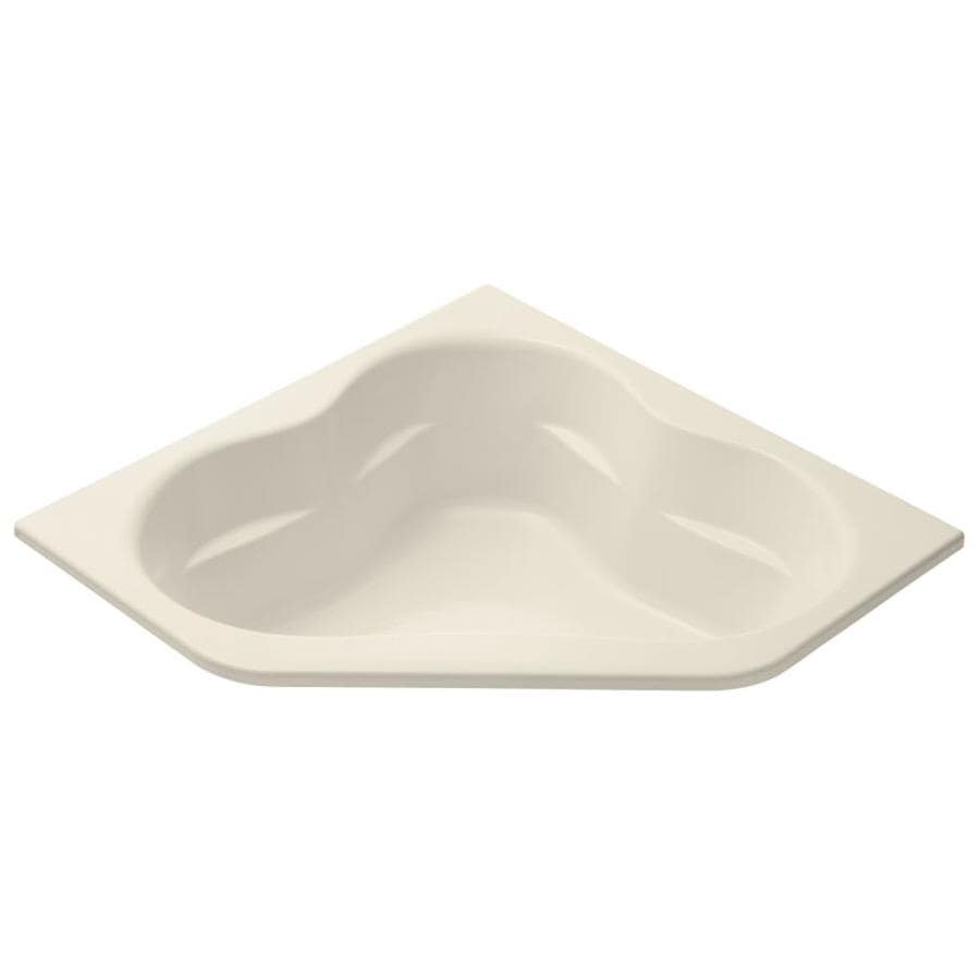 KOHLER Tercet Almond Acrylic Corner Drop-in Bathtub with Front Center Drain (Common: 60-in x 60-in; Actual: 21-in x 60-in x 60-in)