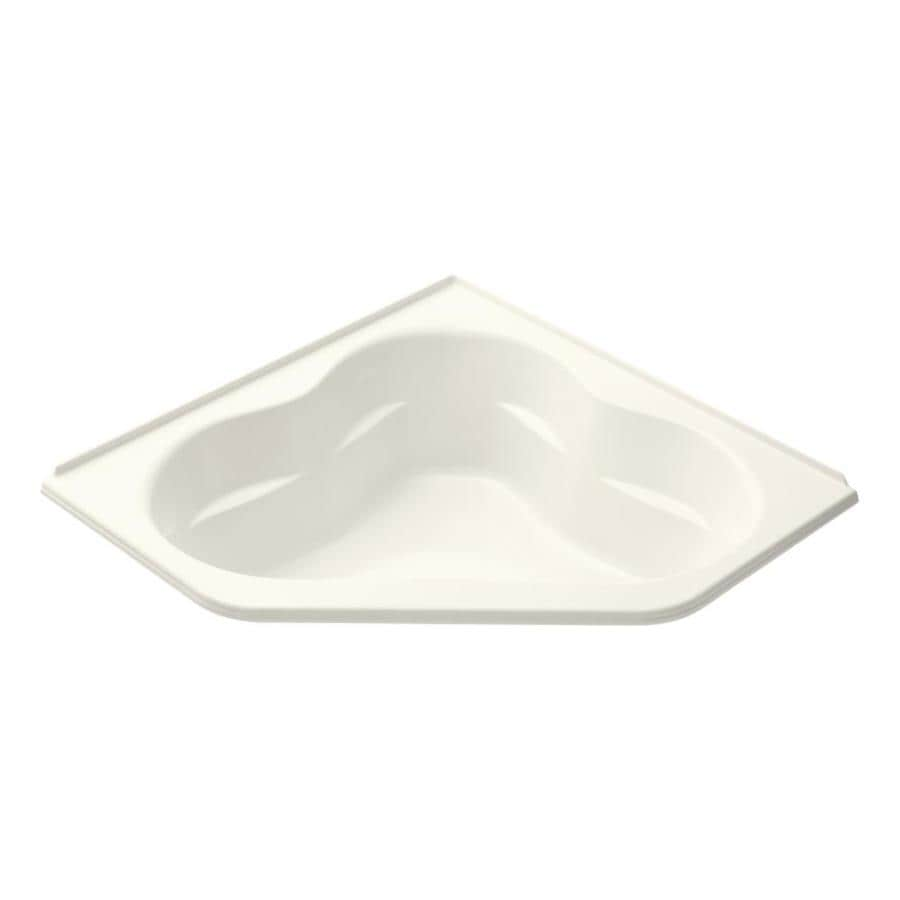 KOHLER Tercet 60-in Biscuit Acrylic Drop-In Bathtub with Front Center Drain