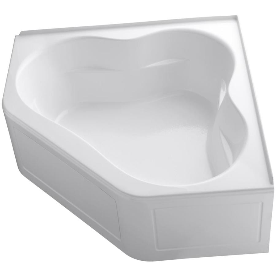 KOHLER Tercet 60-in White Acrylic Skirted Bathtub with Front Center Drain