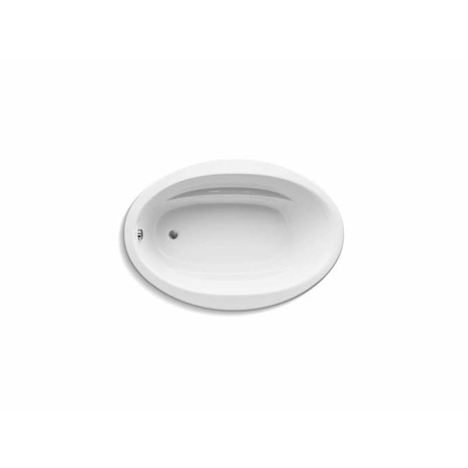 Kohler Sunward 42 In W X 72 In L White Acrylic Oval Reversible Drain Drop In Soaking Bathtub In The Bathtubs Department At Lowes Com