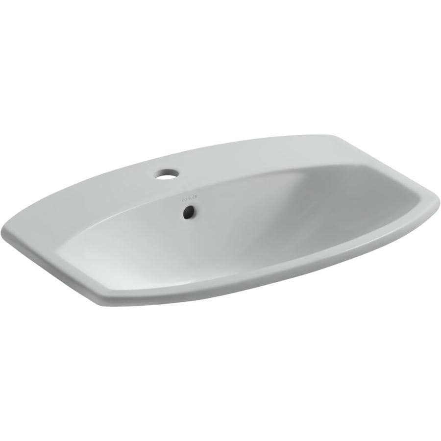 KOHLER Cimarron Biscuit Drop-in Rectangular Bathroom Sink with Overflow