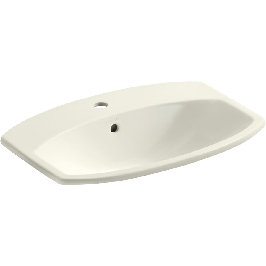Shop Kohler Cimarron Sandbar Drop In Rectangular Bathroom Sink With Overflow At