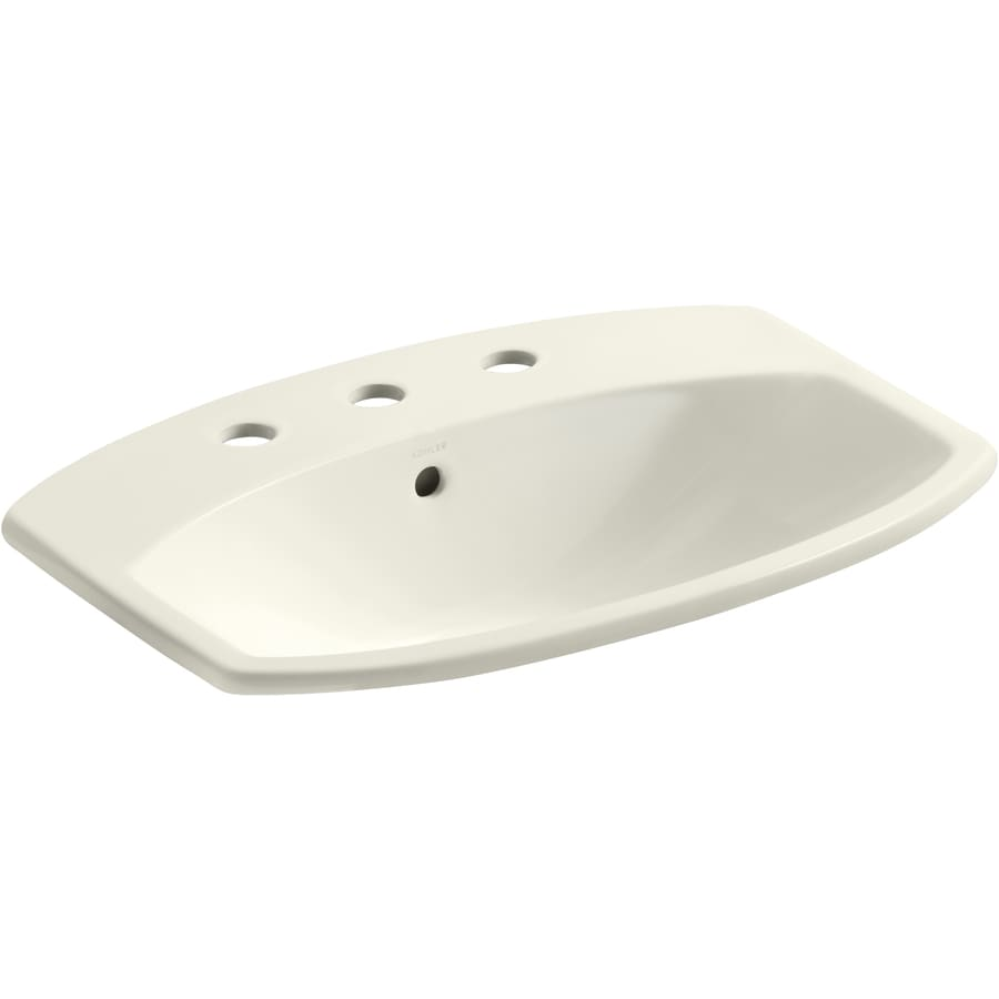 KOHLER Cimarron Sandbar Drop-in Rectangular Bathroom Sink with Overflow