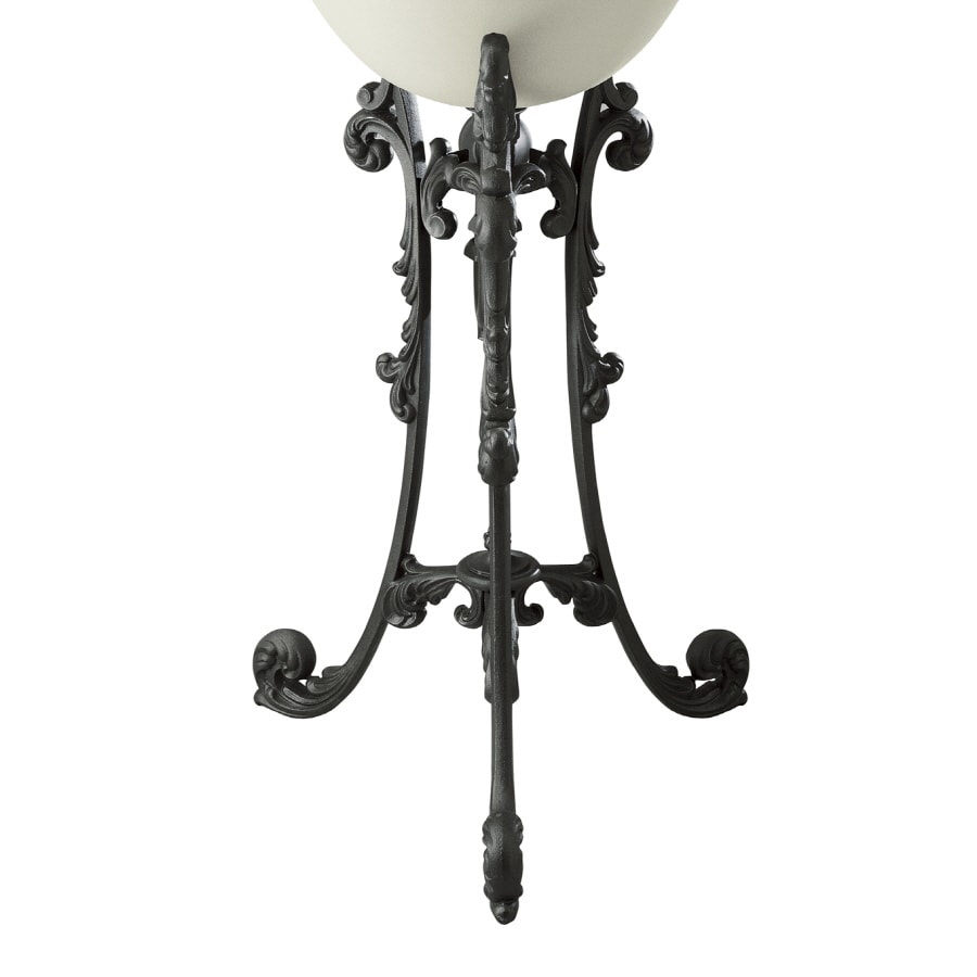KOHLER Iron Works Historic 32 In H Iron Black Cast Iron Pedestal Sink Base