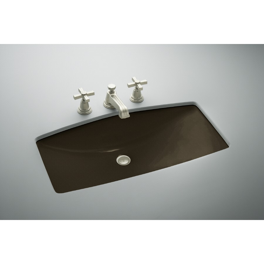 Cast Iron Bathroom Sinks Undermount: Shop KOHLER ManS Lav Black N Tan Cast Iron Undermount