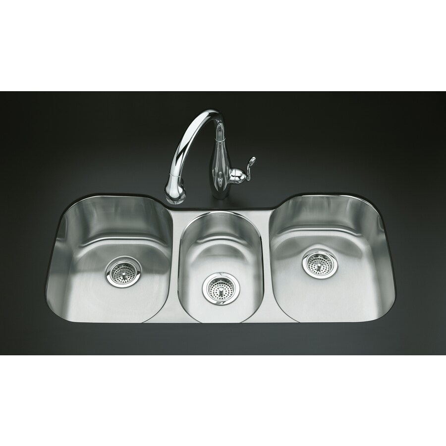 Shop Kohler Undertone X Triple Basin Stainless Steel Undermount Residential