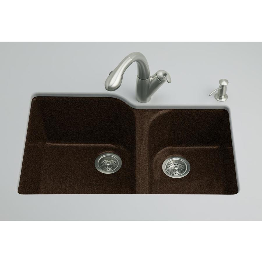 Shop Kohler Executive Chef 22 In X 33 In Black 39 N Tan