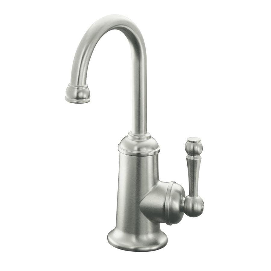 KOHLER Wellspring Vibrant Stainless 1-Handle Bar and Prep Faucet
